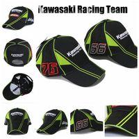 adult kawasaki - Freeshipping New Outdoor moto gp KAWASAKI Racing Team Cap Sports Snapback F1 Motorcycle Racing Baseball Caps Car Visors Sun Hats