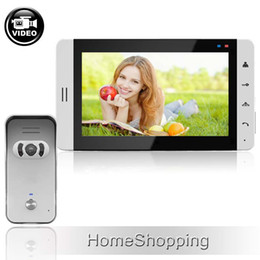 Wholesale House Wired Brand New quot TFT Color Screen Video Intercom Door Phone Recording System Door bell Camera Free