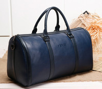 Wholesale Leather Overnight Bags Women Man Blue Leather Pouch Bags overnight bags women duffel bag mens duffel Box Fashion Duffle