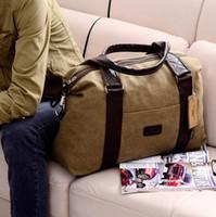 Wholesale Autumn and winter men canvas bag bag fashion handbag cross body travel bag