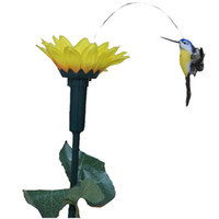 Wholesale Solar Toys Funny Gadget Solar Fluttering Hummingbird Garden Decoration Fun Kit Science Solaire Brinquedos Juguetes Garden Toy