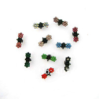 Wholesale Fashion pets or girls small claw clip fashion hair ornament accessories Pairs randomly mixed stone colors
