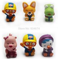 Al por mayor-promoción! 3pcs / set Envío libre Pororo Baño Juguetes para bebés juguetes Corea caliente de baño para niños Renacido Piscina de agua Juguetes