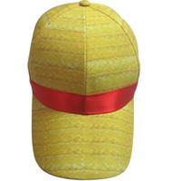 Wholesale New Unisex Custome One Piece Luffy Cosplay Summer Sun Hat Straw Visor Peaked Cap