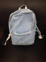 american apparel briefs - American Apparel Bag women Denim Backpack Fashion Brief Retro Finishing Water Wash AA Backpack mochila feminina For Men amp woman