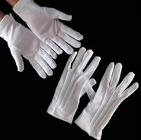 active inspection - New Pair White Cotton Formal Gloves Work for Catering band Parades Inspection Magician Police Etc