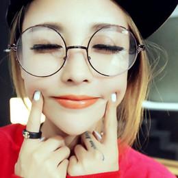 wholesale europe newest men women round retro metal eyeglasses frames korean myopia glasses frame optical circle plain mirror