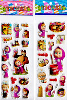 Wholesale masha and the bear D cartoon stickers birthday party favor