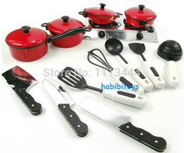 Wholesale-Re-ment 13pcs Cookware Pot Pan Child Pretend tools kids cooking set Education Learning classic play kitchen toys for kids game