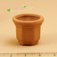 baby furniture sets - G05 X081 children baby gift Toy Dollhouse mini Furniture Miniature baby Terracotta pots set
