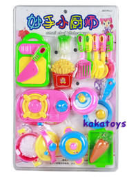Wholesale Play house toys p Set Fruits and vegetables Kitchen Tools Play house simulation tableware Children baby Affordable gifts
