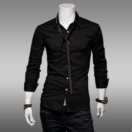 Discount Black Shirt Grey Tie | 2017 Black Shirt Grey Tie on Sale ...