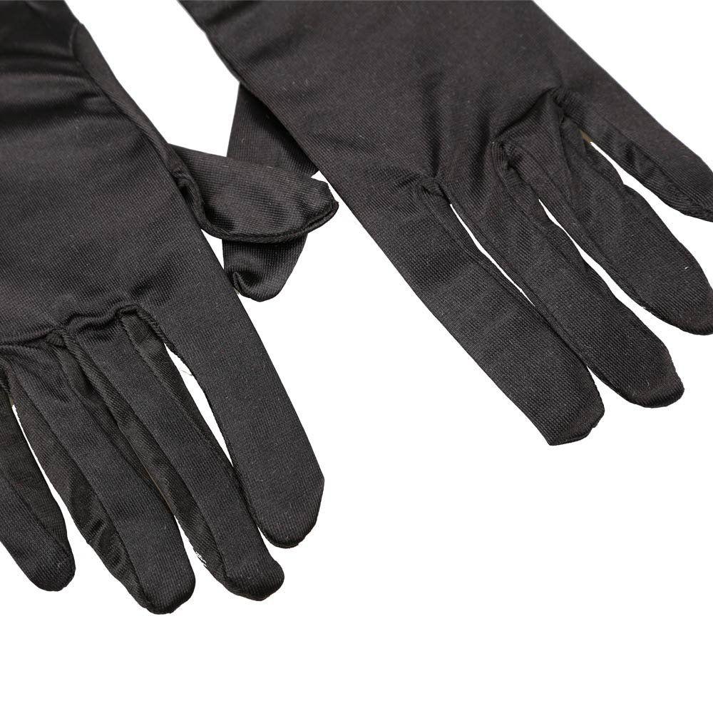 Black dress up gloves - Wholesale Sweet Center A Pair Long Stretch Satin Ruched Evening Gloves For Fancy Dress Costume Black Gloves Fingertip Dress Up Gloves Online With