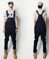 Wholesale Denim Overalls Men Bib Jeans New Fashion Overall Jeans