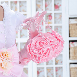 Wholesale-Beautiful child bags flower girl delicate handbag purse child wedding formal dress accessories