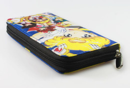 Wholesale-Cute Anime Sailor Moon Wallet Long Oxford Cloth Zipper Two Sides Purse Money Bag