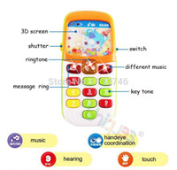 baby cellphone - Kid Toy Phone Cellphone Mobile Phone Early Educational Learning Toys Machine Music Electronic Phone Model Infant Baby Toys Gift