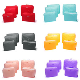 Wholesale Set Brand Unisex traveling bag in bag packing cubes luggage clothes storage bag organizer beautiful travel bag