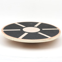 Wholesale Round Wood Balance board plate home trainer to slimming body shaping tools fitness knee pain health disc pilates equipment