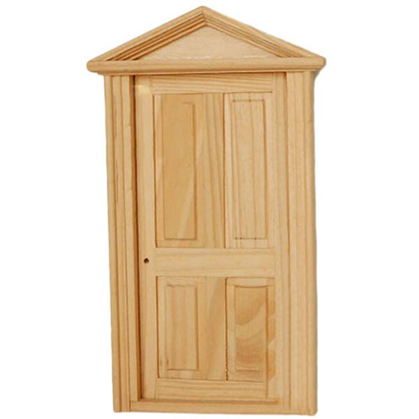 Wholesale dollhouse miniature furniture 4 panel exterior for Cheap front door and frame