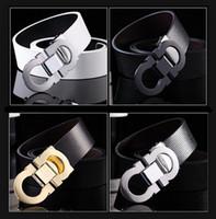 Wholesale new hot high end business men s leather belt D buckle buckle belt leisure joker smooth GG best Quality belts for men