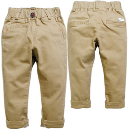 Wholesale boy girl baby casual pants trousers Kidsnot fade Khaki pants spring autumn news child Simple solid