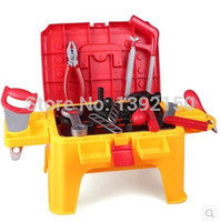 plastic tables and chairs - Pretend Play Multifunction toys Pretend simulation suite Baby repair tool table and chairs Removable handheld toy Tool Toys