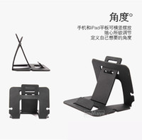 Hard Plastic No Support Wholesale-Buy 5 Get 1 Free! For iPhone 5s 5c 4 Foldable Mobile Phone Holder Stand Fit Samsung Galaxy Note3 S4 i9500 S5 i9600 Free Shipping