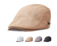 Wholesale Style Men Cotton Blank Ivy Hat For Spring Women Summer Plain Flat Hats Trendy Mens Fall Flatcap Duckbill Cap
