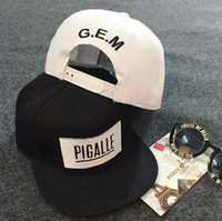 baseball activities - Black White Pigalle GEM Baseball Cap hip hop hat For Men Women outdoor activity hats