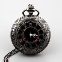 Wholesale Retro Steampunk Roman dual display Bronze pocket watch Necklace Pendant for men and women Dial mm