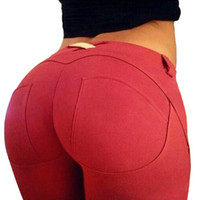 Wholesale new fashion solid women jeans lift the hip full length trousers pants lady leggings candy color skinny jeans woman