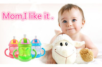 sippy cups - ML Colors Cute Baby Cup Feeding Drinking Straw Bottle mamadeira Sippy Training Cup
