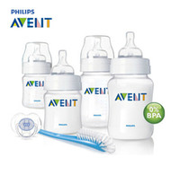 avent set - Brand Original AVENT Baby Feeding Milk Nursing Bottle Mamadeira oz oz oz newborn Starter Set Environmental safety