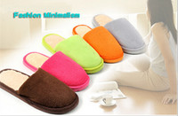 house shoes - NEW Candy Color Men Women Winter Warm House Indoor Slippers Cotton Sandals Foot Warmer Shoes Multicolor