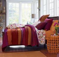 Cheap Wholesale-100% Cotton American Style Bed Spread Blanket Quilt Cover Bedding Sets 3pcs bed linen (quilt +2 Pillowcase) queen 230*250cm size