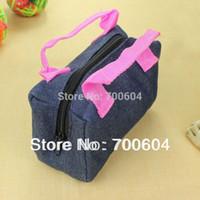 toddler jerseys - vintage fabric jersey Kids Children Girls Toddler School Handbags bags Child Gift Denim hands bags organised double belt