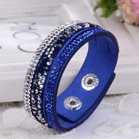 beaded wholsale - Wholsale Rhinestone Charm Multilayer Cuir Leather Wrap Bracelets For Women Fashion Jewelry