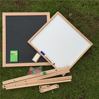 adjustable easel - Children Wooden Painting Easel Black White Magnetic Drawing Board Writing Board Double Face Adjustable Lifting