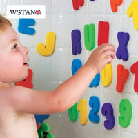 alphanumeric numbers - W S TANG2015 Bath toy children cognitive floating foam toy educational toys alphanumeric alphabet stickers Letters Numbers