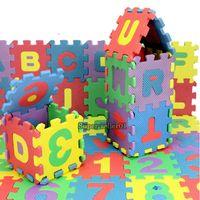 Wholesale Colorful Mini Puzzle Kid Educational Toy Alphabet Letters Numeral Foam Mat New