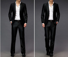 Discount Slim Fit Shiny Black Suits | 2017 Slim Fit Shiny Black