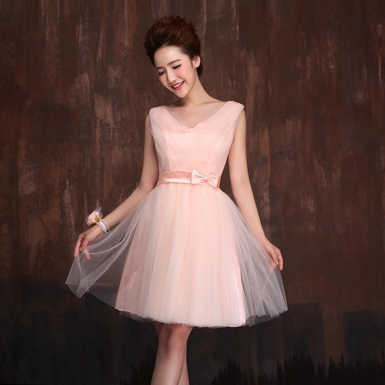Wholesale-High Low Bridesmaid Dress Short Front Long Back ...