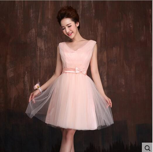 Wholesale High Low Bridesmaid Dress Short Front Long Back Puffy