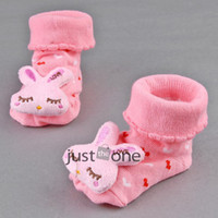 baby slippers pattern - New Baby Girl Colors Soft Socks Anti Slip Newborn Shoes Cartoon Animal pattern Slipper Hot