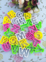 alphabet cutting dies - 26 letters of the alphabet cookie cutters suit fondant cake mold die cut printed DIY chocolate JJ299