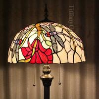 bedroom floor ideas - Tiffany stained glass art lighting European classical pastoral romantic bedroom living room floor lamp ideas