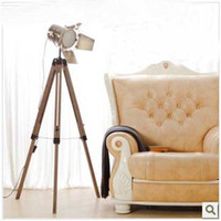 america tripods - Promotion Europe America Quality Luxury Tripod Wooden Professional Photography Floor Lamps Lamp Lights Lighting