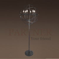 balls work table - RH American country wrought iron chandelier designer retro ball table lamp creative industrial designer floor lamp