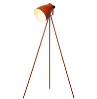 Wholesale Hot selling Quality Fashion Modern Brief Black White Red Orange Triangle Tripod Floor Lamps Lights Indoor Lighting Fixtures
